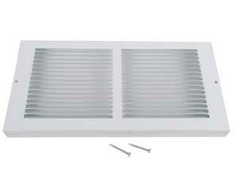 Imperial RG0038 Baseboard Return Air Grille, 8 in H x 14 in W, 20 deg,  Steel, Polished Brass
