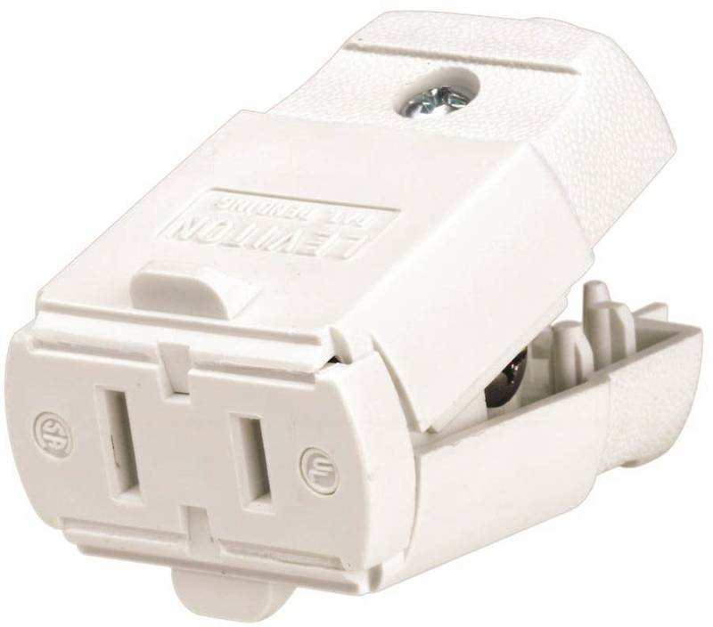 Leviton C22-00102-0WP Polarized Straight Blade Cord Connector, 125 V ...