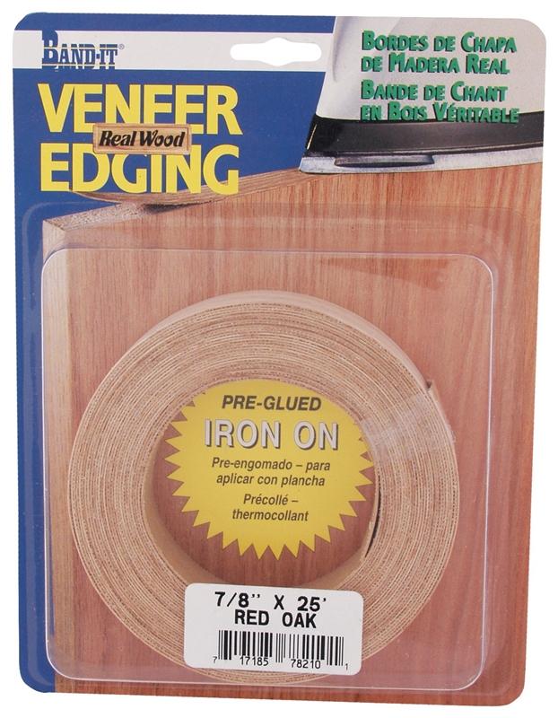 Band It 78210 Edge Band 7 8 In W 25 Ft L Wood Veneer Red Oak