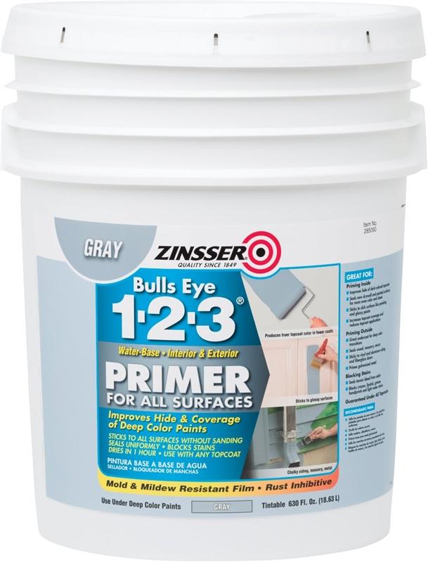 Zinsser 285090 All-Purpose Primer, 5 gal Container, Liquid, Gray