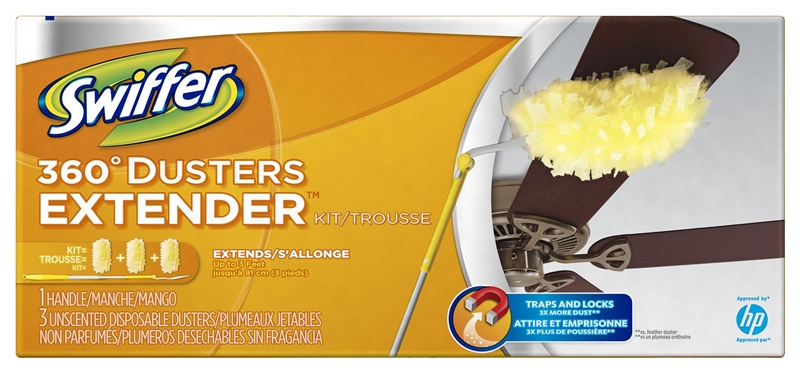 Swiffer 44750 Cleaning Duster White Fiber Trim Extended
