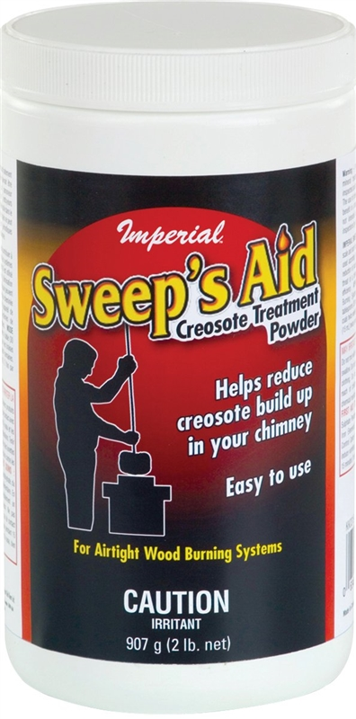 Imperial Sweep's Aid Creosote Treatment, 2 lb, Jar, Grey, Powder or  Crystals 6 Pack