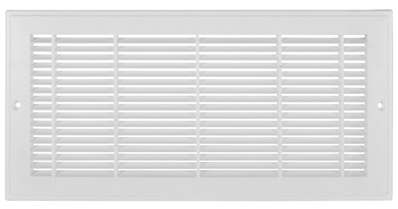 Imperial RG3012 Sidewall Grille, 6 in H x 18 in W, 500 cfm,  Polystyrene/Plastic, White