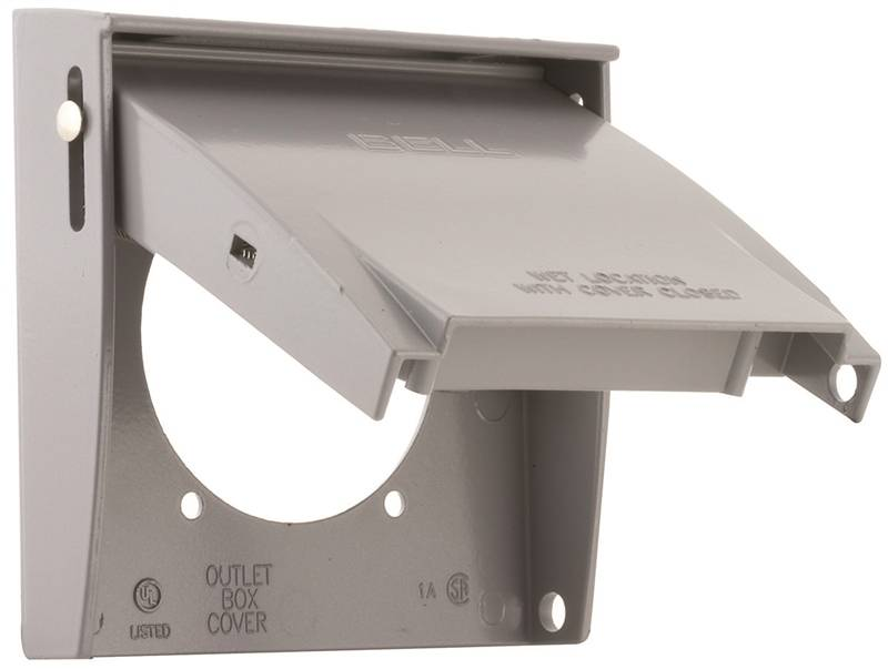 Gray 4-1//2 x 4-1//2 4-1//2 x 4-1//2 Aluminum Hubbell 5175-5 Blank Weatherproof Cover L X 4-1//2 in W