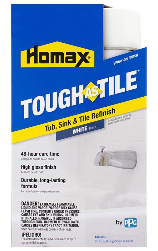 Homax Tough as Tile Epoxy Paint, 32 oz, 44 - 52 sq-ft, White, Hydrocarbon
