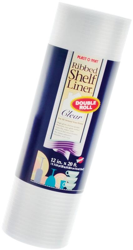 Warp Brothers Plast O Mat Non Adhesive Ribbed Shelf Liner