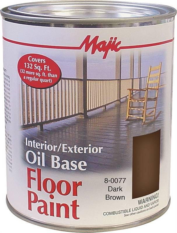 Majic 8 0077 Oil Based Floor Paint 1 Qt Pail 525 Sq Ft