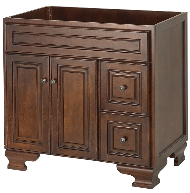 Bathroom Vanity Walnut 36x21