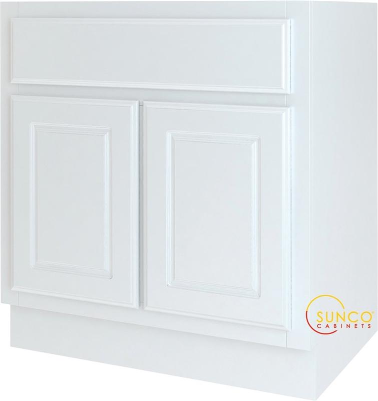 Sunco randolph vs3021yt double door bathroom vanity 30 in w x 21 in h white for 30 x 21 bathroom vanity white