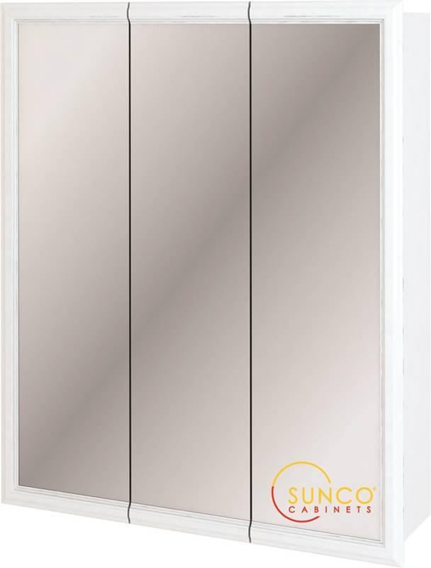 Sunco Trv3630yt Tri View Medicine Cabinet 36 In W X 6 In