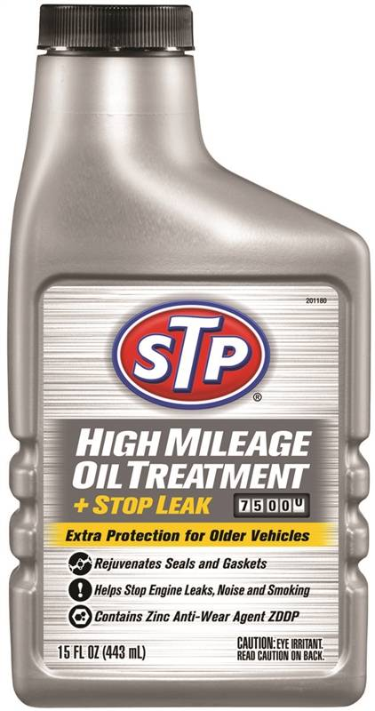 Stp high mileage oil treatment for Who makes stp synthetic motor oil