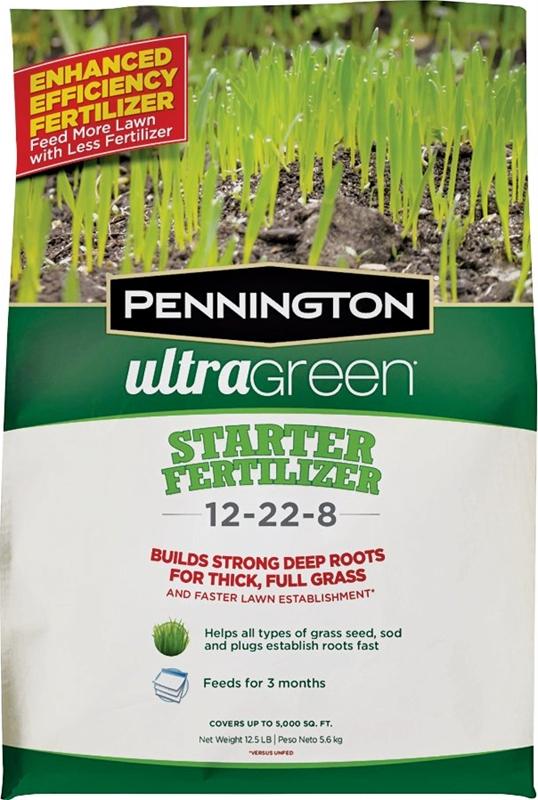Pennington 100519554 Lawn Starter Fertilizer 25 Lb Bag 1000 Sq Ft