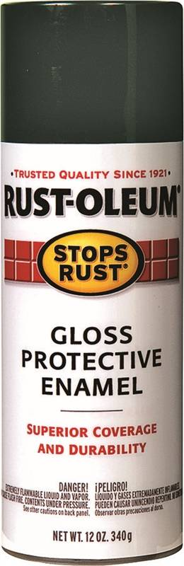 Rustoleum Stops Rust Rust Preventive Protective Enamel Spray Paint, 12 oz,  Charleston Green