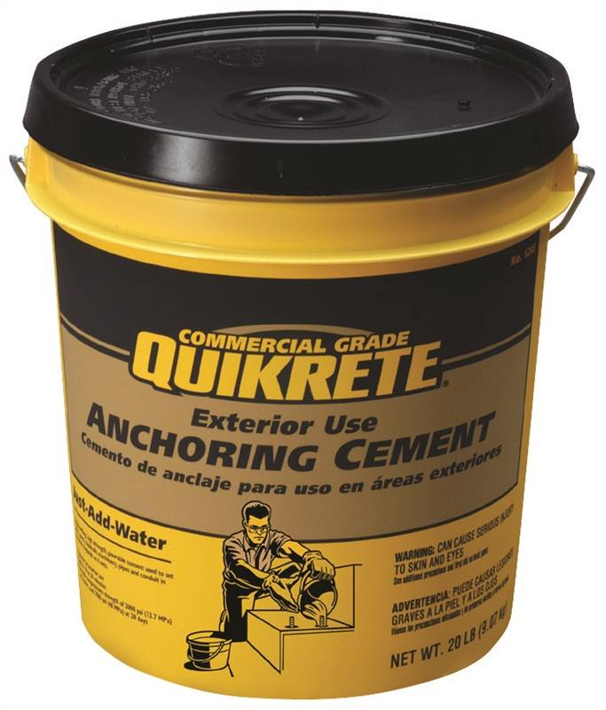 quikrete 1245 20 anchoring cement 20 lb pail gray to gray brown powder