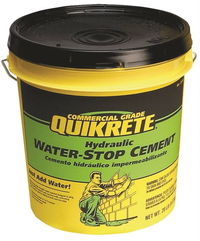 Quikrete 1126 20 Hydraulic Water Stop Cement 20 Lb Pail