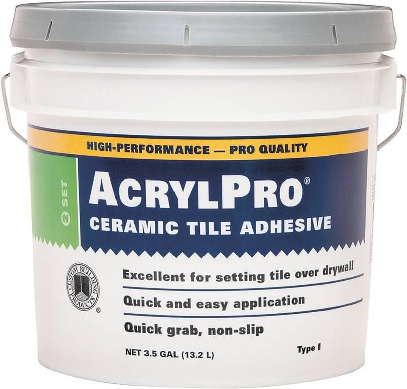Acrylpro Arl40003 Ceramictileadhesive 35 Gal Pail White