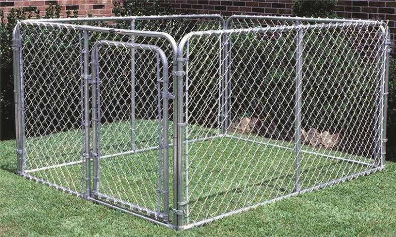 How To Set Up A Chain Link Dog Kennel