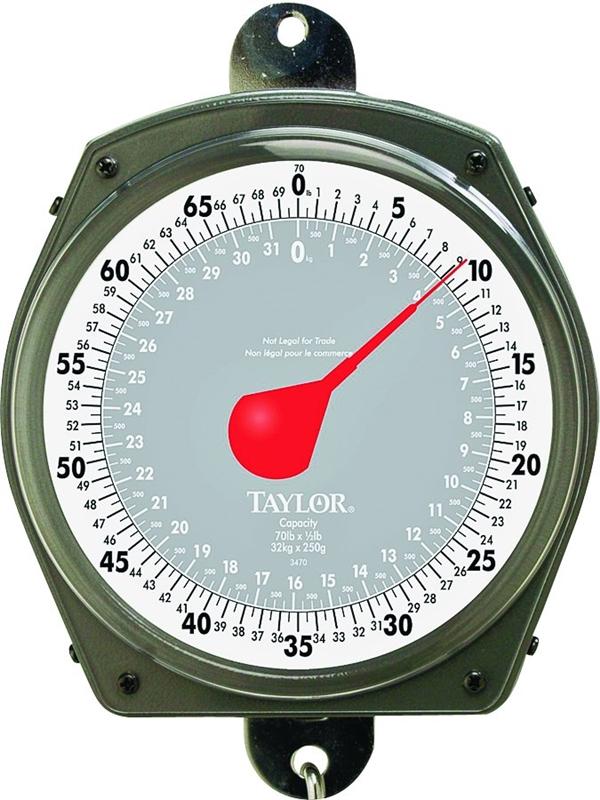 Taylor 3470 Hanging Weighing Scale 70 Lb Analog
