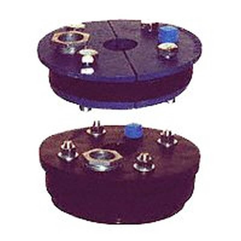 Simmons 177 Double Drop Double Hole Well Seal, 6 in ID Well, 1-1/4 x 1 in  Drop Pipe, 1/2 in Vent Trapping, Cast Iron