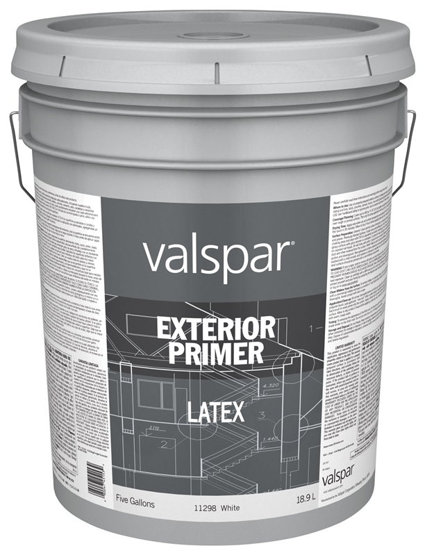 Valspar 11298 exterior general purpose primer 5 gal pail for 5 gallon bucket of paint price