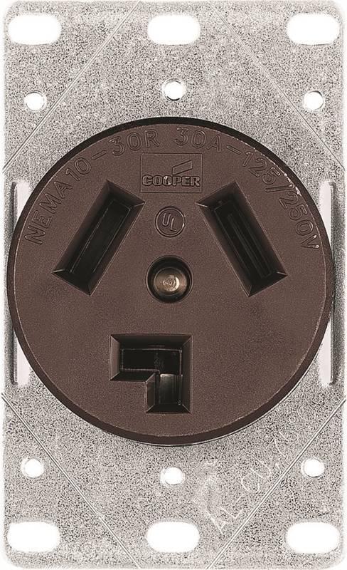 Cooper Wiring Receptacle 50 Amp 125 250 Volt 1258