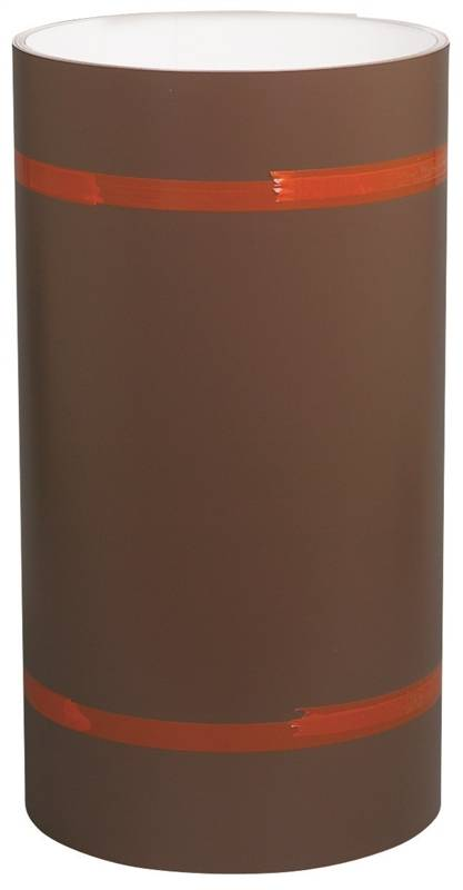 x 10-Ft. Trim Coil 10-In White//Brown Painted Aluminum
