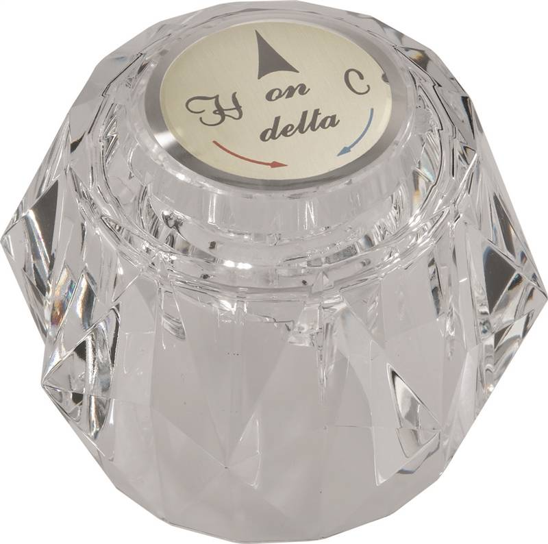 Delta Crystal Faucet Knob Handle, For Use With Delta 500 Series ...