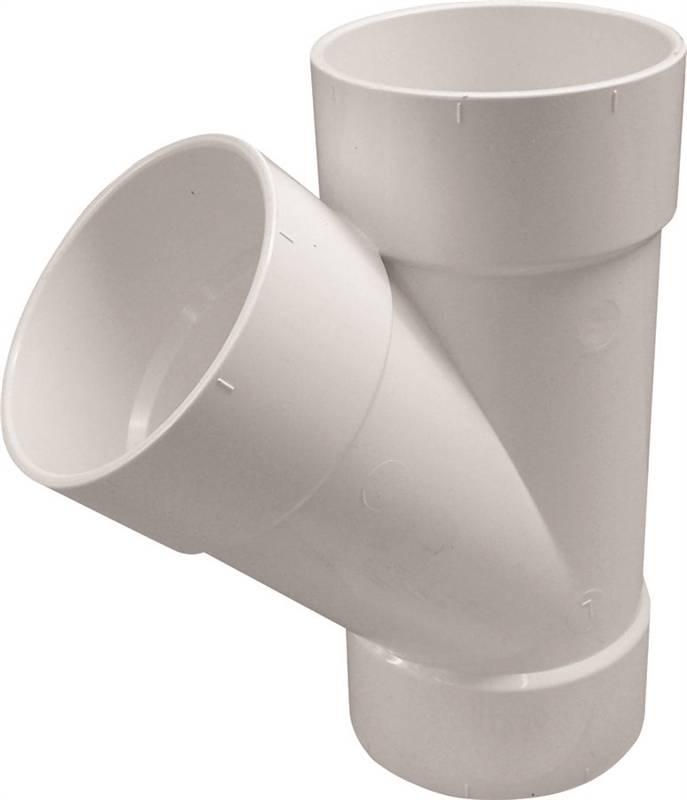 Genova solvent weld sewer and drain pipe wye in