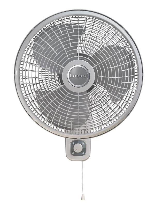 Lasko 3016 Oscillating Wall Mount Fan White Gray