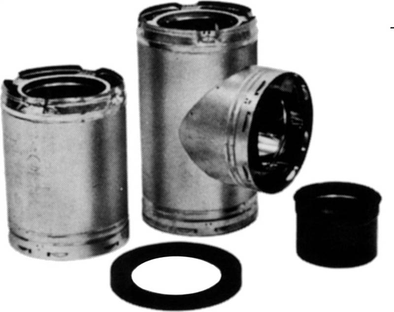Amerivent 6hs Ta 3 Wall Chimney Tee Assembly 6 X 16 X 3 In