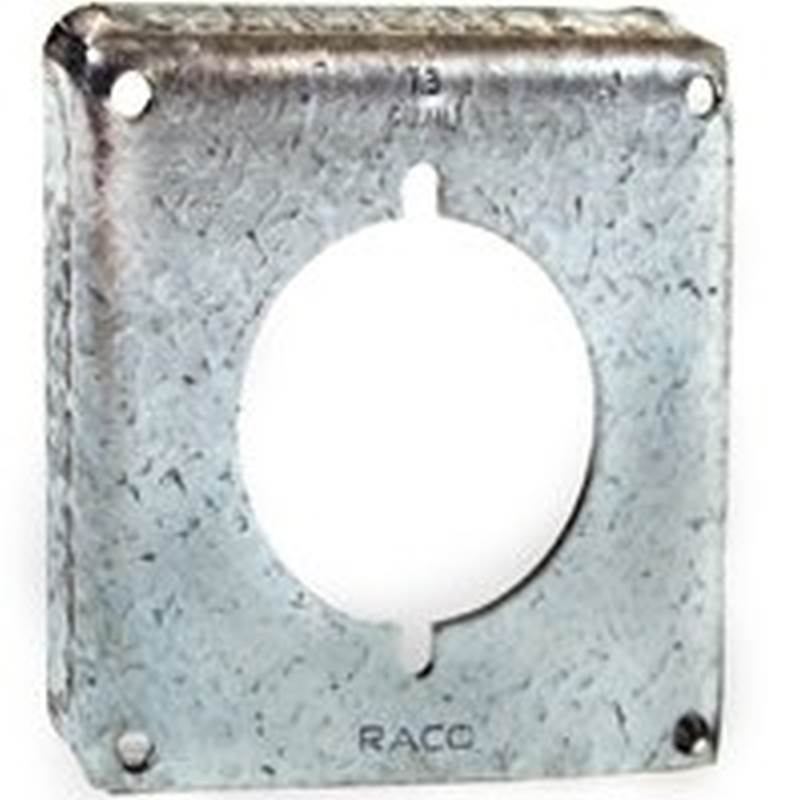 Lot Of 10 RACO 787 4 In Square Single Device Flat Box Cover