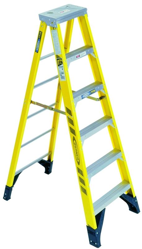 Werner 7308 Single Sided Step Ladder 375 Lb 3 In 3 1 8