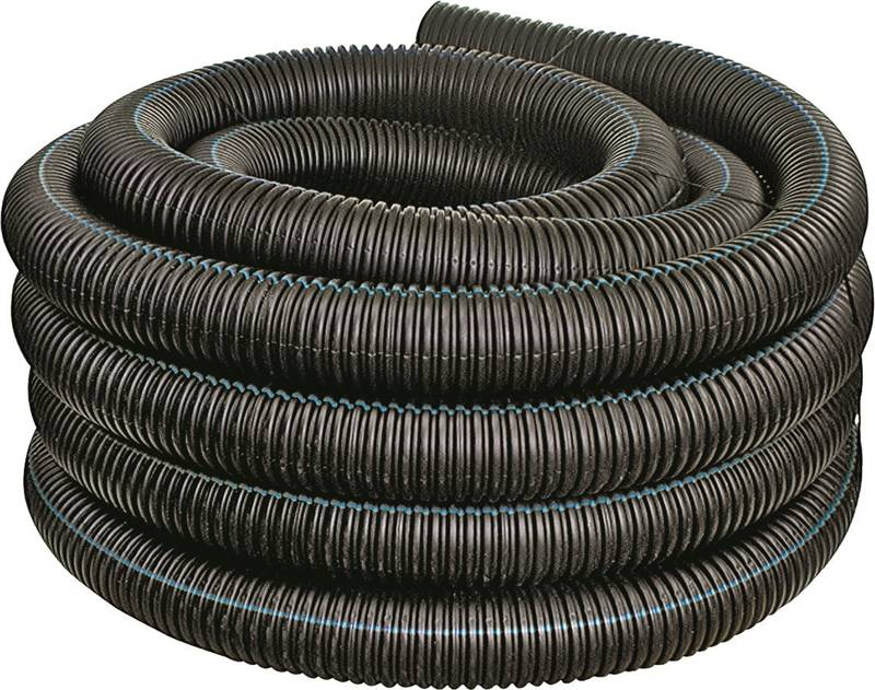 Hancor 04510100 Regular Solid Single Wall Pipe 100 Ft, HDPE