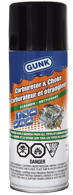 Gunk Carb Medic M4814C Carburetor Cleaner, 354 ml, Aerosol Can, Clear,  Liquid
