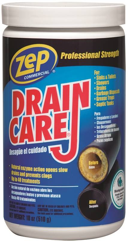 Drain Care Zdc16 Build Up Remover 18 Oz Tan Powder