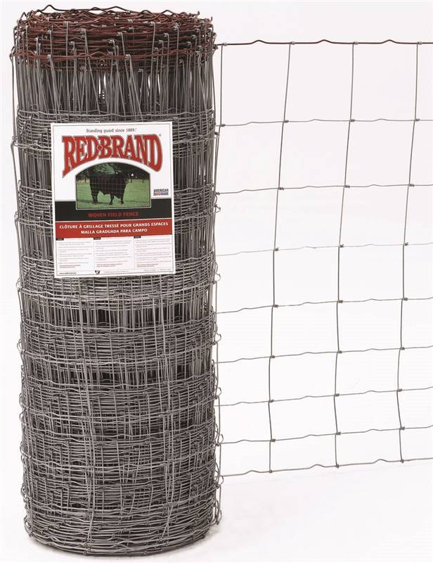 Keystone Wire 70046 Red Brand Field Fence, Galvanized Woven, 939-6 ...
