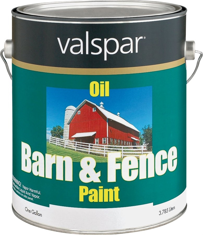 Valspar 3141 75 Barn And Fence Paint Oil Based Mildew Resistant Gallon White Case Of 4