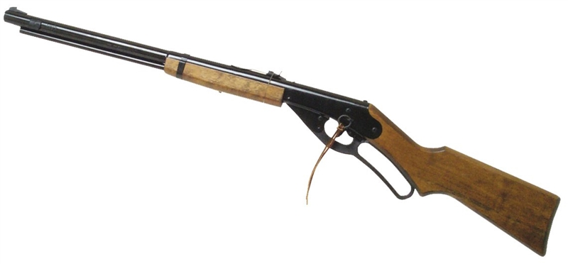 Daisy 1938 Crossbolt Trigger Ryder Air Rifle, Lever Cocking, Spring Air,  Blade and Ramp Front, Adjustable Open Rear