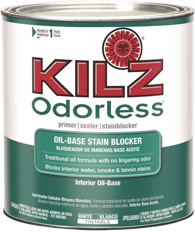 Kilz 10042 Interior Primer Sealer, 1 qt, Liquid, White