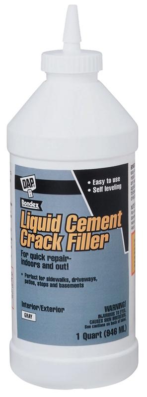 Dap Bondex Ready To Use Cement Crack Filler 1 Qt Bottle Light Gray