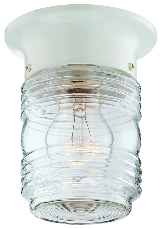 Boston Harbor Hv 66919 Wh 3l Jelly Jar Porch Light Fixture