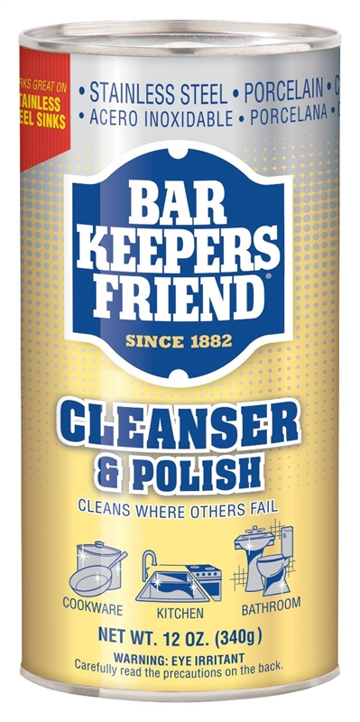 bar keepers friend 11510 cleaner and polish 12 oz powder white off white. Black Bedroom Furniture Sets. Home Design Ideas
