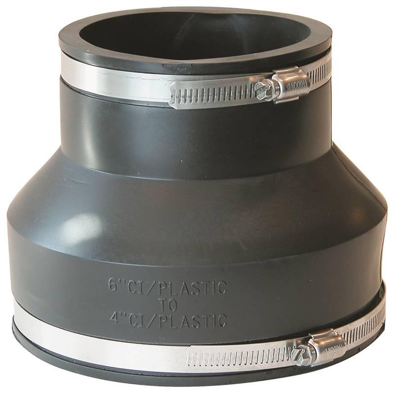 Fernco flexible pipe reducing stock coupling