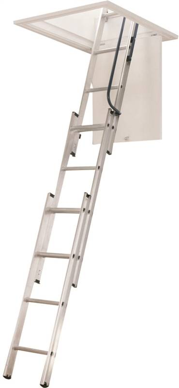 Werner Aa1510 Compact Folding Telescoping Attic Ladder