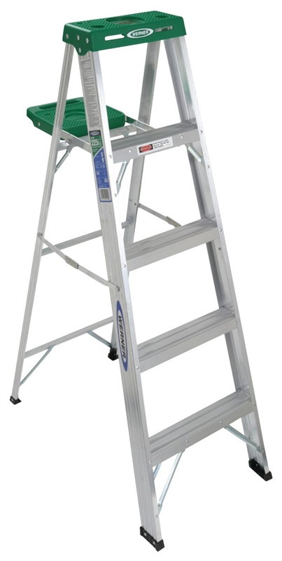 Werner 355 Single Sided Step Ladder With Pail Shelf 225