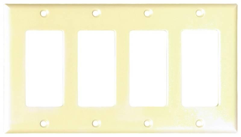 Arrow Hart 2164 Decorative Standard Wall Plate, 4 Gang, 4-1/2 in L x ...