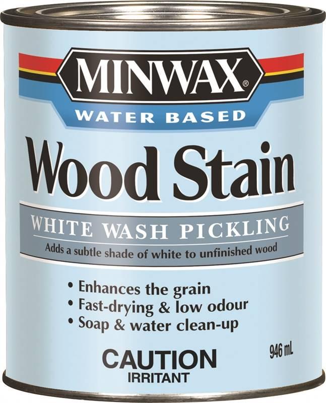 White Wash Gel Stain: Minwax CM6186000 Pickling Stain, 946 Ml, White