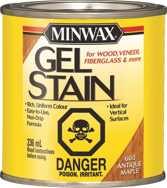 Minwax 26031 Non Drip Gel Stain 236 Ml Antique Maple Liquid