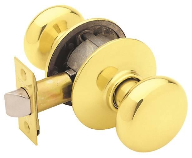 Schlage Plymouth F10 Round Full Ball Door Knob Lockset