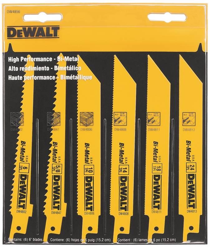 Dewalt DW4856 Bi Metal Reciprocating Saw Blade Set